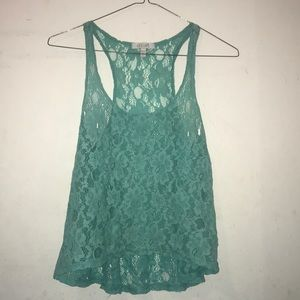 delia's lace tank top